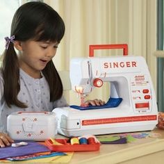 GREAT article on teaching kids to sew. Starts with basic hand stitches, to buttons, then the machine.