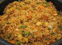Easy Chicken Fried Rice - because of allergies, NO sesame oil!!!
