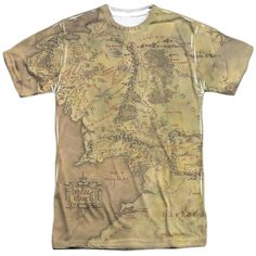 Lord Of The Rings : Middle Earth Map Sublimated T-Shirt - NerdArmor.com - 1