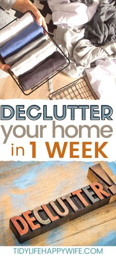 So you're tired of the chaos and clutter and you're finally ready to do something about it. Let me show you how to declutter your house in one week.