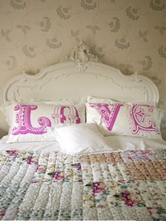 I really love the light colors and the antique romantic look.  Love the Love :-)