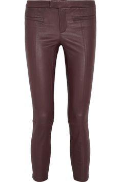 Helmut LangLeather skinny pantsfront