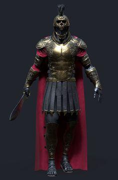 "scifi-fantasy-horror: ""by Kenny Carmody "" Fantasy Armor, Fantasy Weapons, Dark Fantasy Art, Fantasy Character Design, Character Design Inspiration, Character Art, Arte Assassins Creed, Roman Armor, Roman Warriors"