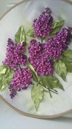 Lilacs #ribbonEmbroidery