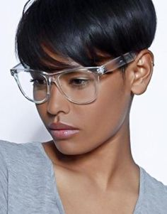 Clear see-through classic horned rim frame with a clear lens glasses! Perfect for a fun and unique vintage look. Made with an acetate based frame, metal hinges and clear polycarbonate UV protected lenses.