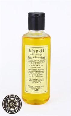 Khadi Herbal Shampoo 210 Ml - Honey & Lemon Juice Refreshes Detoxifies Hair Care