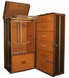 Cole & Grey Wood Vinyl Suitcase 2 Piece Decorative Box Set ...