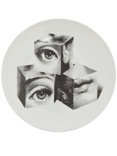 Shop Fornasetti Plate In White from stores. White porcelain plate from Fornasetti featuring a print of three cubes with human features. Graffiti Art, Arte Hippy, Piero Fornasetti, Fornasetti Wallpaper, Monochrom, Diy Mask, Art Inspo, Cool Art, Art Drawings