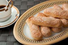 """Savoyardi's biscuit cookies, or """"lady's fingers"""" – Cook and Bake with all family My Recipes, Sweet Recipes, Baking Recipes, Dessert Recipes, Cannoli, Russian Desserts, Delicious Desserts, Yummy Food, Biscuit Cookies"""