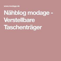 Nähblog modage - Verstellbare Taschenträger