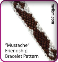 I MUSTACHE you a question! Mustache friendship bracelet pattern! Click for instructions :)