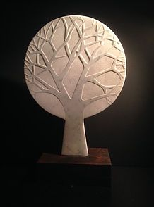 Winter Tree Carrerra Marble Large