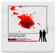 ナプキンがキャンバスに!? 気軽にアートが体現できるMoMAの広告  |  AdGang