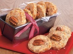 Maple Pecan Shortbread - A delicious spin on classic shortbread cookies - these are light and buttery with the crunch of pecans and the hint of maple. They make the perfect holiday dessert treat for gift-giving.