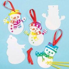 bonhomme de neige loisirs creatifs deco suspendre dans le sapin personnage de noel gratter