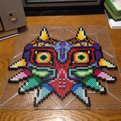 Majora's Mask Zelda perler beads by nosaM