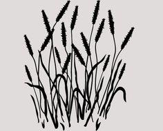 Nature Garden Cat Tails Grass Vinyl Wall by greatwallsoffire, $19.95