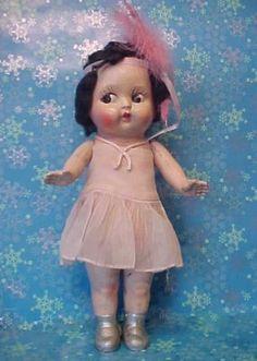 "15"" Old Vintage 1930s Chalkware Flapper Kewpie Girl Doll Figure Carnival Prize | eBay"