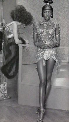 1997-98 - John Galliano for Christian Dior Couture backstage - Naomi Campbell
