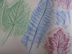 leaf rubbings and stamping
