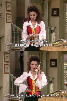"""Because this is you every time you promise yourself you're going to cook more.   The 17 Most Relatable Quotes From """"The Nanny"""""""