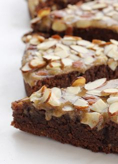 Gluten-Free Chocolate Cake with Almonds and (optional) Brown Sugar Icing #glutenfree #grainfree