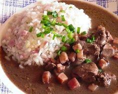 Játra na špeku se šunkovou rýží Food And Drink, Beef, Meat, Steak
