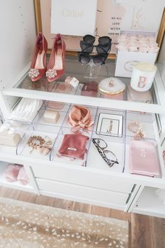 How I Created a Custom Closet ✨ Kleiderschrank, closet ✨, Beautiful Thingsss, ✨ Kleiderschrank, closet ✨ How I Created a Custom Closet Ikea Closet, Closet Bedroom, Closet Office, Pink Closet, White Closet, Closet Tour, Master Closet, Small Apartment Organization, Clothing Organization