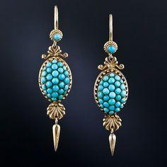 Victorian Turquoise Drop Earrings