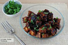 Tofu crujiente al horno con salsa de soja y miel. http://www.vitonica.com/recetas-saludables/tofu-crujiente-al-horno-con-salsa-de-soja-y-miel-receta-saludable
