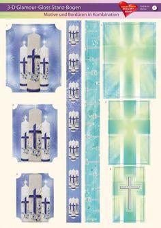 3-D GlamourGloss Bogen, kirchliche Motive, Din A4, Motiv 7