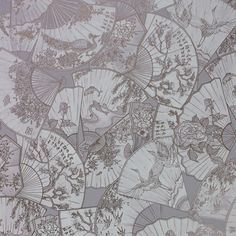 The wallpaper Fanfare - from Matthew Williamson is a wallpaper with the dimensions x 10 m. The wallpaper Fanfare - belongs to the popular Rose Gold Wallpaper, Grey Wallpaper, Blue Wallpapers, Home Wallpaper, Matthew Williamson, Chinese Fabric, Japanese Blossom, Osborne And Little, Travel Sketchbook