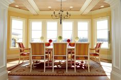 Formal dining room with chandelier