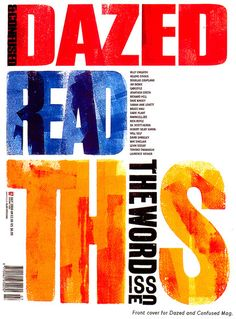 Alan Kitching cover for Dazed and Confused magazine