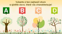 Vyberte si ten nejhezčí strom a zjistěte slovo, které vás charakterizuje! | ProNáladu.cz Learning, Studying, Teaching, Onderwijs
