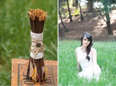 hunger games inspired wedding... don't think i would do this but it's still pretty cute & romantic