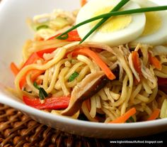 how to cook egg noodles pancit canton
