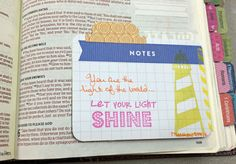 Matthew 5:14-16 Daily Life - Bits & Pieces: Bible Journaling - Inserts & Tip-Ins