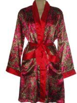 Up2date Fashion Robe/gown with Pockets, Style#gwn04, Red Animal Print, Size (M, L, XL, 2X)