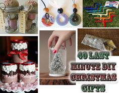 40 Last Minute DIY Christmas Gifts!