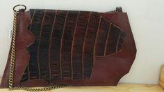 Bolso de piel bolso de cuero bolso marron bolso por BellyPork