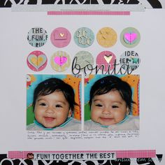 Layout, scrapbook. antukuyem scrap ...scrapbook, amor a primera vista