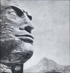 The African statue of Mussolini's head