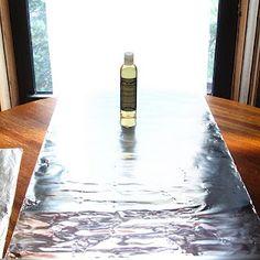 studio photo avec alu, carton et papier calc :-) joli tuto