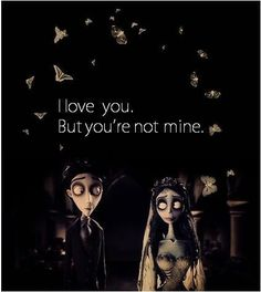 """I love you. But you're not mine."" Emily | Corpse Bride (A noiva cadáver) | #filme #movie #illustration #ilustração #artedigital #digitalart #corpsebridge #noivacadáver #timburton #quote"