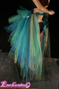 Massive Mermaid burlesque tie on bustle costume--One Size XS-XL--Enchanted. $85.00, via Etsy.