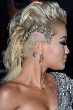 Braided Side Mohawk | Rita Ora Rocks Side Braids With A Cool Mohawk Hairstyle At The GQ Men ...