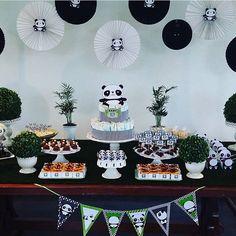 #mulpix Chá de bebê muito fofo com tema Panda, por @quickfesta   #kikidsparty