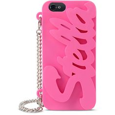 Stella McCartney Pink Logo Iphone 6 Cover ($170) ❤ liked on Polyvore featuring accessories, tech accessories and stella mccartney