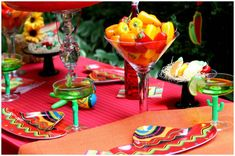 Peppers in a martini glass - easy and inexpensive decor!